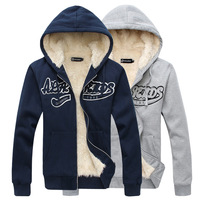 Free Shipping 2013 New Embossing Word Haired Thermal Thickening Hood Cardigan Sweatshirt Outerwear Coat M,L,XL,XXL RG1308746