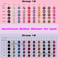 2013 NEW Stylish Metal Home Button Sticker For ipod itouch 2/3/4/5G GS Factory Price