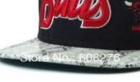 Wholesale Snapback hats Chicago Basketball Team Snakeskin Brim Black Color Adjustable Baseball Caps Free Shipping Mix order