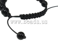 Free shipping!!! Shamballa Bracelets,ladies, Natural Turquoise, with Wax Cord, with rhinestone, 18x13x13mm, Length:7.5 Inch