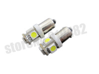 free shipping hot selling 100pcs BA9S Car LED Lights 5 smd 5050 DC 12V 5050 W6W T4W Power 6253  Interior light lamp Bulbs