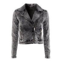 Fall 2013 Fashion Handsome Vintage The Femal Jackets Motorcycle Water Wash Stretch Brand Short Jeans Denim Jacket Big Size Plus