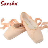 Sansha ballet dance shoes toe shoes canvas hard practice shoes ballet toe shoes