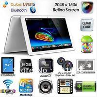 Cube U9GT5 Quad Core Rockchip RK3188, 9.7in  Retina Screen, Bluetooth, Dual Camera, 2GB 16GB, Android Tablet PC U9GTV In Stock