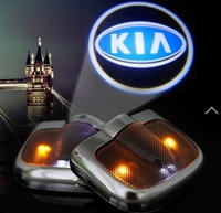Free ship!KIA Optima/Carens/Carnival Car LED welcome door LOGO light,12V (we have many car model,Pls tell your car name+year!)