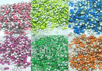 3000PCs Mixed Color Round Metal Nail Art Decoration Metallic Nail Studs Drop 3mm N026