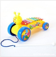 Small bee trailer knock piano infant educational toys knock piano music toy