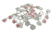 Free shipping!!!Zinc Alloy Lobster Clasp Charm,african style jewelry, enamel, nickel, lead & cadmium free, 7x32x3mm