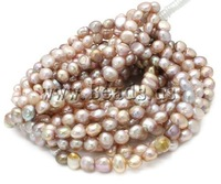 Free shipping!!!Potato Cultured Freshwater Pearl Beads,2013 men, natural, pink, AA, 9-10mm, Hole:Approx 0.8mm, Length:15 Inch