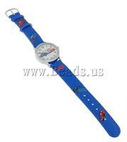 Free shipping!!!Fashion Watch Bracelet,Tibetan Jewelry, Zinc Alloy, with Leather, nickel, lead & cadmium free, 28x28x9mm