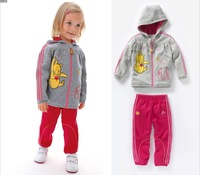 Wholesale,2013New , Baby Girls Cute Cartoon Jacket + Pants 2pcs Sets ,Girls Casual Clothes , Freeshipping( in stock)