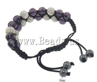 Free shipping!!!Rhinestone Shamballa Bracelets,new 2013, with rhinestone, 10mm, 8mm, Length:6-10.5 Inch, 10Strands/Lot