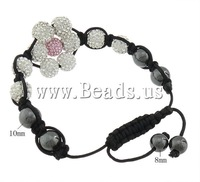 Free shipping!!!Rhinestone Shamballa Bracelets,2013 new men, Flower, 10mm, 8mm, Length:6-10 Inch, 10Strands/Lot, Sold By Lot