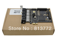 TE420 PCI-E card with 4 E1/T1 ports,ISDN PRI card PCI Express,te405 te410