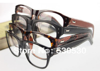 2013 Hand Made Optcial Frame Dounble Rivet PU Leather Wrap Legs Glasses Frame Unisex Desiger 10pcs Free Shipping
