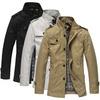 Men's Fashion Casual Big Size Wind Coat Jacket Slim Blazer Suit, Size M-XXL, Free Shipping, 3 Colors