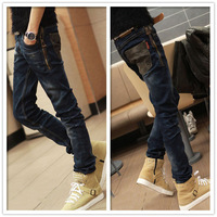 Hot Sale 2013 New Men Jeans Denim Pants Male Long Straight Male Cattle Trousers Skinny Pant Free Shipping