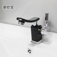 Single hole washbasin wash basin hot and cold faucet 45mm 81017 black paint