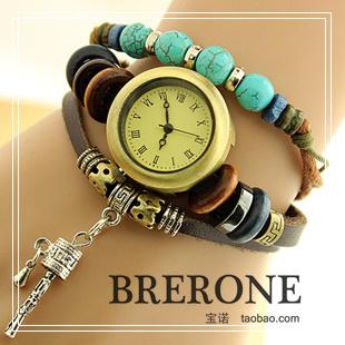 Cowhide strap bracelet watch ladies watch fashion vintage handmade small accessories