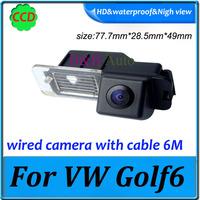 Pixel 728*582 backup camera car rear camera waterproof 170 degree CCD For VW Golf6