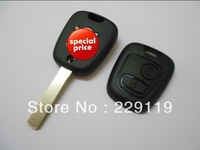 Peugeot 307 407 2 button car key shell blank fob without groove on side of  blade high quality free shipping