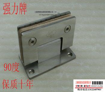 Stainless steel stainless steel bathroom clip shower room hinge frameless door glass clamp glass hinge 90