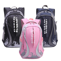Free Shipping Leisure Waves Leisure Fashion School Boys And Girls Backpack School Bag