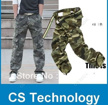 [C492] 2013 HOT CASUAL MILITARY ARMY CARGO CAMO COMBAT WORK PANTS TROUSERS
