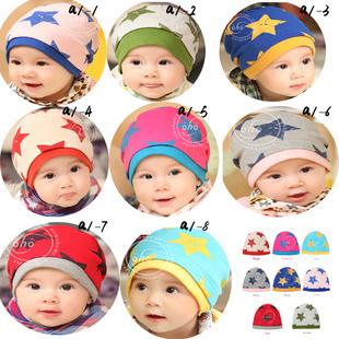 2014 New Winter baby kid infant Star Warm cap, children kid warm candy color hat  ,  PMM108