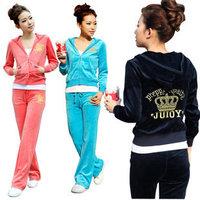 HOT SALE!2013 women velvet Sport Package sports suit Leisure Sports Hoodie Set Hooded sweater + pants