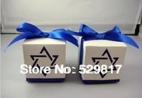 Free shipping 50 Pcs blue star Wedding box Candy Box gift box wedding bonbonniere wedding favour boxes