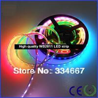 WS2811 Built-in IC Digital LED30LEDs/M DC5V IP65 IP67 Waterproof 5050 SMD RGB LED Strip Light