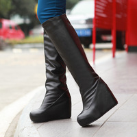 Autumn and winter platform british style vintage wedges fashion gaotong boots