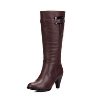 Autumn elegant high zipper boots high thick heel boots bv8301 high-leg