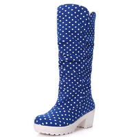 2013 women's autumn and winter shoes boots martin boots snow boots tassel boots dot high-leg
