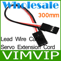 30pcs/Lot Free Shipping RC Servo Extension Cord Cable Wire 300mm Lead JR+Wholesale