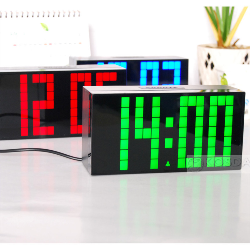 Unique digital clock lighted digital wall clock decorative Cool digital wall clock