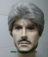 HOT NEW super gray Short healthy elder men's Hair Wigs