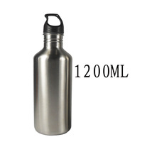 Outdoor sports bottle glass 1200ml 304 stainless steel water bottle american style