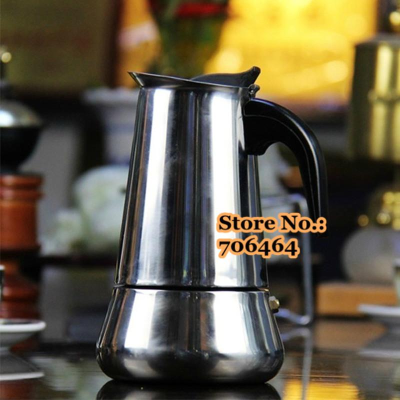 Moka Pot Crema Steel Moka Coffee Maker Moka Pot Espresso Coffee Pot With 1mm Moka Maker