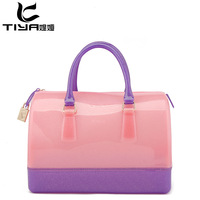 women messenger bag new 2013 Women's handbag  Candy bags transparent bags summer bags shell bag cosmetic bag beach bag