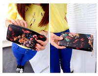 2013 New Painted Oil Painting Retro Personality Purses Women's Wallets Purse Women Bags Handbags Designers Brand
