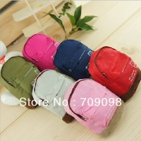 Free shipping retail & wholesale backpack idea cute women's fashion coin purse canvas purse bag 6 colors