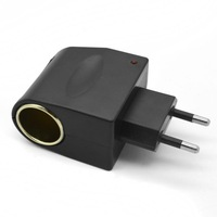 High quality AC-DC to 12V Cigarette Lighter ADAPTER POWER CONVERTER free shipping