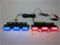 Car LED high power lightning flash warning light wireless remote control open warning escorting light flashing lights 1 drag 6*3