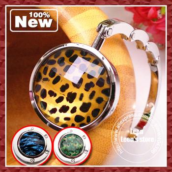 EMS Free Shipping  Fashion Round Shape Bag Hanger Holder Hook Women Ladies Girl  Best Festival Gift Wholesale 100pcs/lot