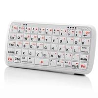 Mini Bluetooth QWERTY Keyboard with Powerbank Backup Battery White