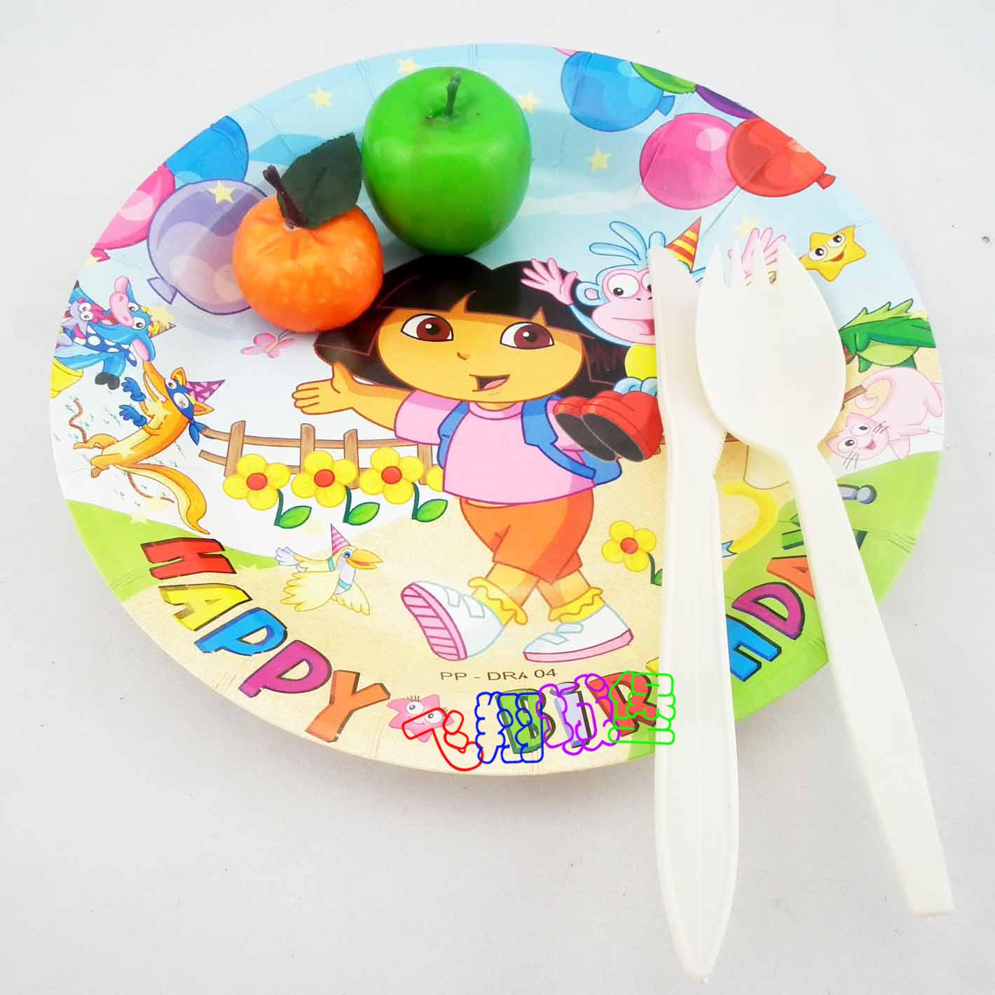 Disposable cartoon dish baby child birthday cake dish birthday party supplies(China (Mainland))
