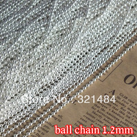 silver plated bulk ball link chain 1.2mm ball chains findings 100m accessories for jewelry making supplies