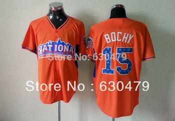 2013 All Star National League San Francisco Giants 15 Bruce Bochy orange Baseball Jerseys Mix Order